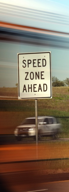BLINDER tested by speed zones